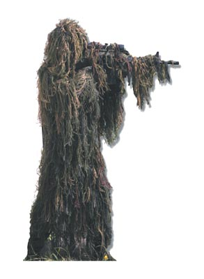 ''GHILLIE-FLAGE'' READY TO WEAR GHILLIE SUIT FOILAGE OR DESERT