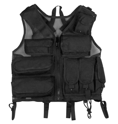 ULTRA FORCE TM BLACK TACTICAL S.W.A.T. VEST