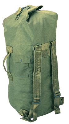 GI TYPE DOUBLE STRAP DUFFLE BAG - OLIVE DRAB