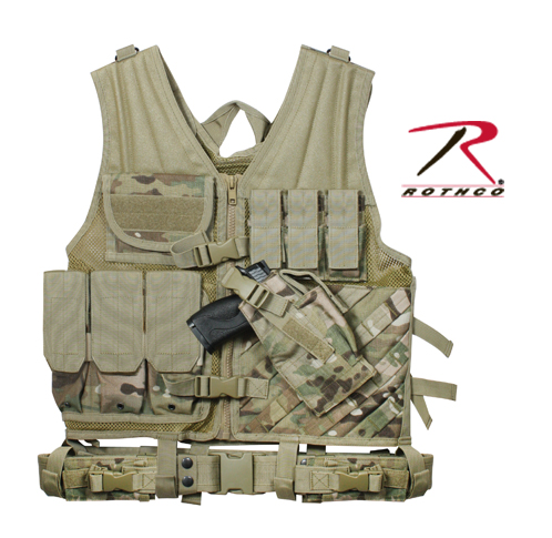 MULTICAM TACTICAL CROSS DRAW VEST