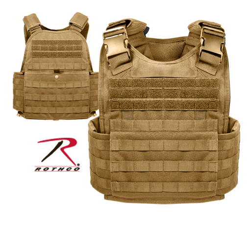 MOLLE PLATE CARRIER VEST - COYOTE