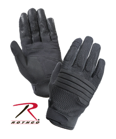 PADDED KNUCKLE GLOVE - BLACK