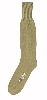 KHAKI CUSHION SOLE SOCK - PAIR