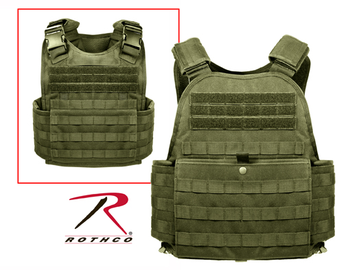 MOLLE PLATE CARRIER VEST - OD GREEN