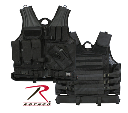 BLACK TACTICAL CROSS DRAW VEST
