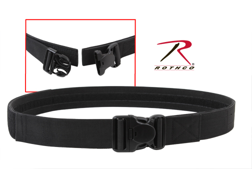 TRIPLE RETENTION TACTICAL DUTY BELT-BLACK