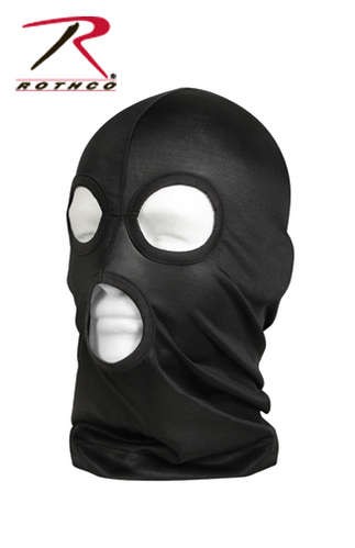 LIGHTWEIGHT 3-HOLE FACEMASK - BLACK