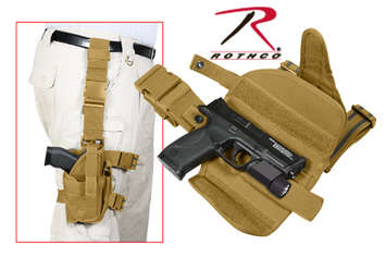 DELUXE ADJUSTABLE DROP LEG TACTICAL HOLSTER - COYOTE