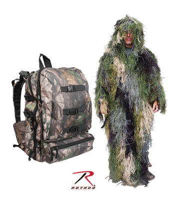 BUSHRAG GHILLIE PACK AND SUIT
