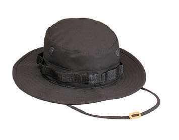 ULTRA FORCE BLACK BOONIE HAT