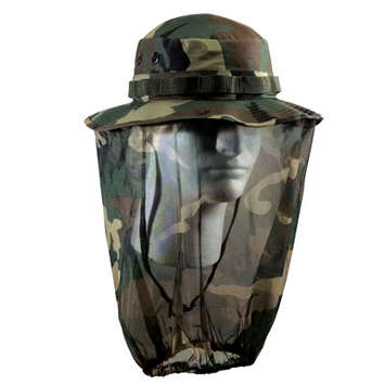 ULTRA FORCE CAMO BOONIE HAT W/ CAMO MOSQUITO NETTING