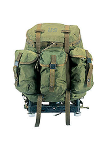 GENUINE G.I. USED OLIVE DRAB ALICE PACKS WITH FRAME