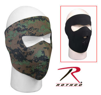 REVERSIBLE WOODLAND DIGITAL FULL NEOPRENE FACEMASK