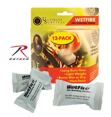 WETFIRE - FIRE STARTING TINDER / 8 PACK