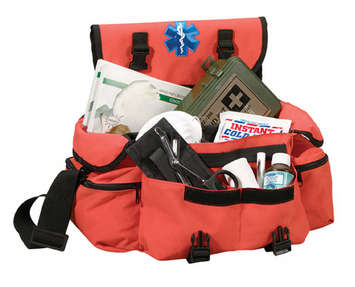 ORANGE MEDICAL RESCUE RESPONSE BAG